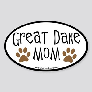 Great Dane Mom Oval Oval Sticker