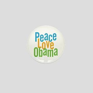 Peace Love Obama Mini Button