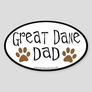 Great Dane Dad Oval Sticker