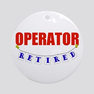 Retired Operator Ornament (Round)