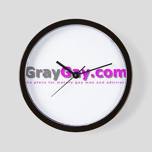 GrayGay.com logo items Wall Clock