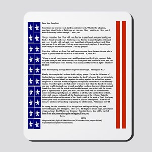 July 4th Mousepad/Dear Son or Daughter for Troops