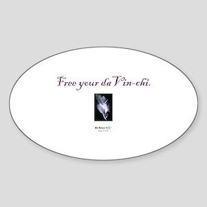 Free Your daVin-chi Oval Sticker