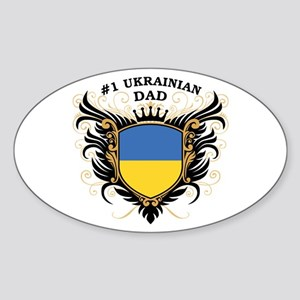 Number One Ukrainian Dad Oval Sticker