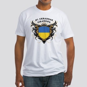 Number One Ukrainian Grandpa Fitted T-Shirt