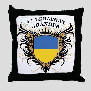 Number One Ukrainian Grandpa Throw Pillow