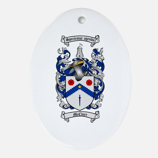 McClure Family Crest Oval Ornament