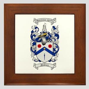 McClure Family Crest Framed Tile