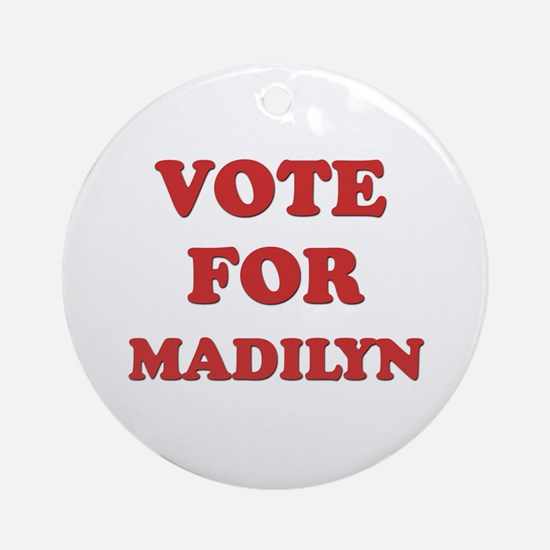 Vote for MADILYN Ornament (Round)