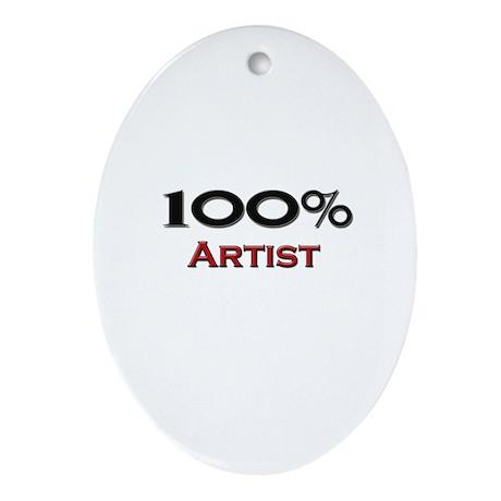 100 Percent Artist Oval Ornament
