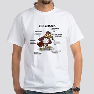 The Red-tail White T-Shirt