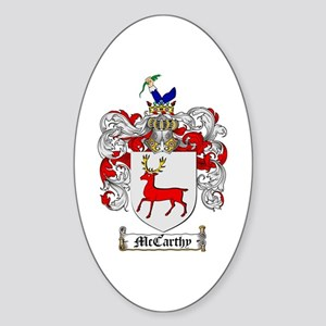McCarthy Family Crest Oval Sticker