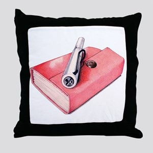Red Mini Sketchbook Throw Pillow