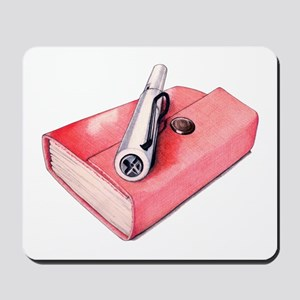 Red Mini Sketchbook Mousepad