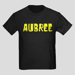 Aubree Faded (Gold) Kids Dark T-Shirt