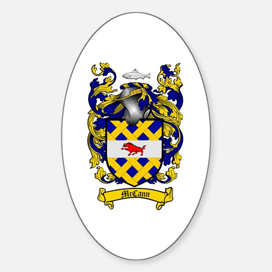 McCann Family Crest Oval Decal