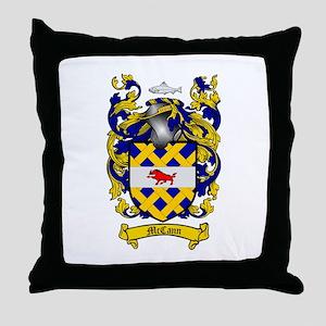 McCann Family Crest Throw Pillow