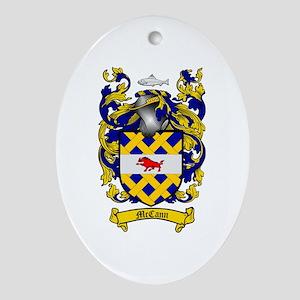 McCann Family Crest Oval Ornament