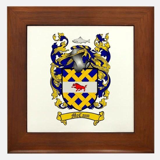 McCann Family Crest Framed Tile