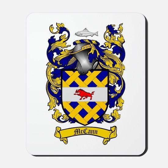 McCann Family Crest Mousepad