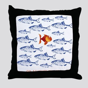 Go Against The Flow Throw Pillow