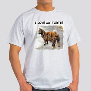 I Love My Tortie Ash Grey T-Shirt