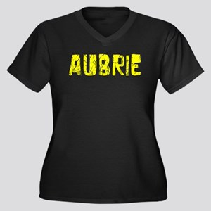 Aubrie Faded (Gold) Women's Plus Size V-Neck Dark