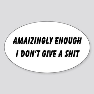 Amaizingly Oval Sticker