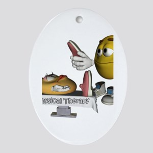 Smiley Physical Therapy Oval Ornament