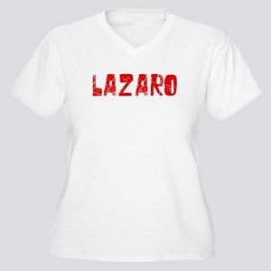 Lazaro Faded (Red) Women's Plus Size V-Neck T-Shir