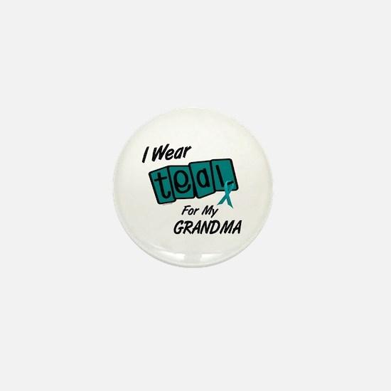 I Wear Teal 8.2 (Grandma) Mini Button (10 pack)