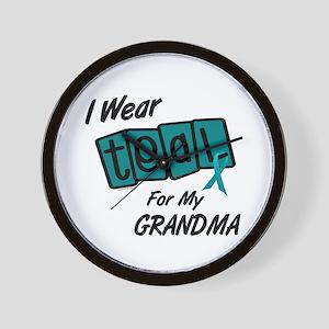 I Wear Teal 8.2 (Grandma) Wall Clock