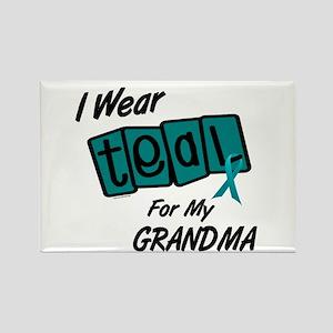 I Wear Teal 8.2 (Grandma) Rectangle Magnet