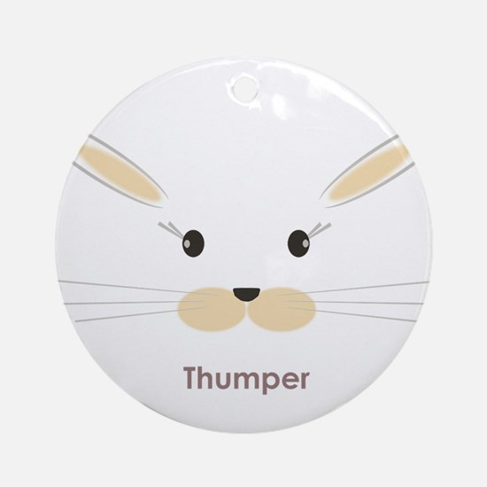 personalized bunny gifts Ornament (Round)