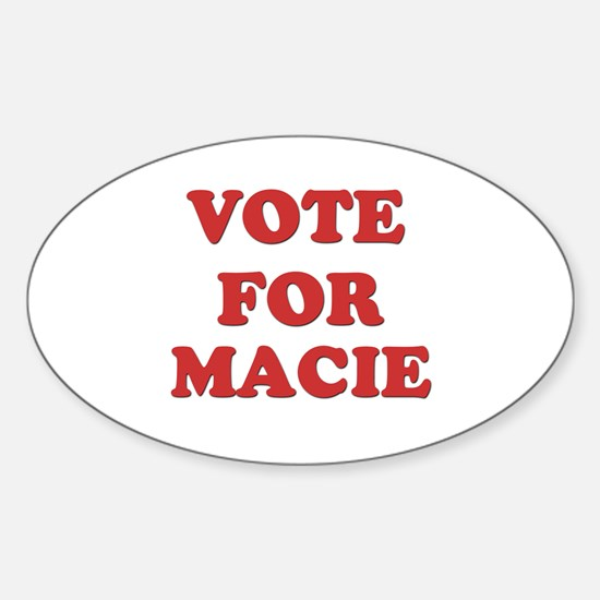 Vote for MACIE Oval Decal