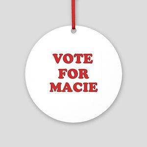 Vote for MACIE Ornament (Round)