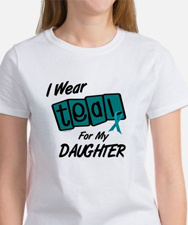 I Wear Teal For My Daughter 8.2 Women's T-Shirt
