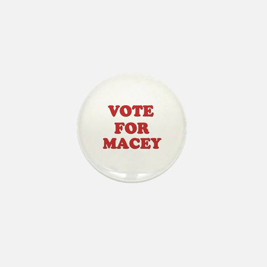 Vote for MACEY Mini Button