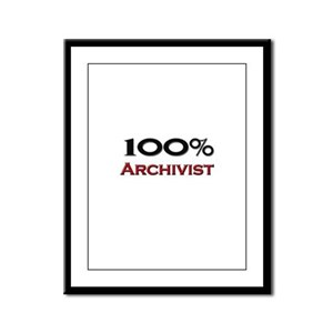 100 Percent Archivist Framed Panel Print