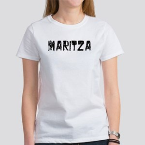 Maritza Faded (Black) Women's T-Shirt