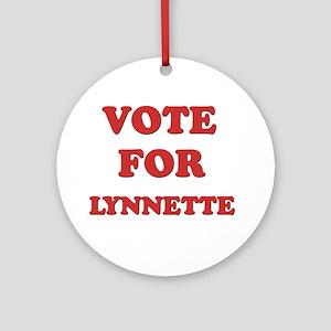 Vote for LYNNETTE Ornament (Round)