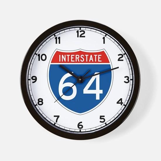 Interstate 64, USA Wall Clock