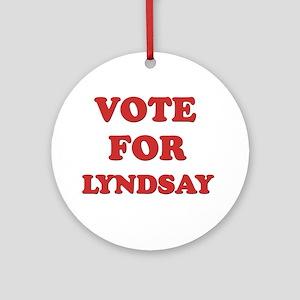 Vote for LYNDSAY Ornament (Round)