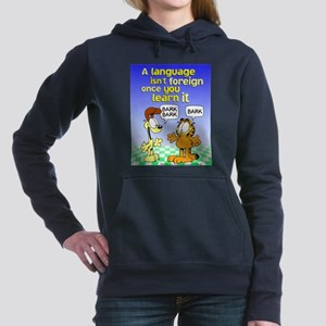 Foreign Language Women's Hooded Sweatshirt