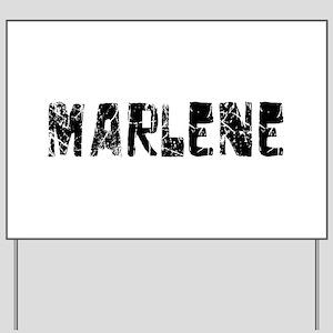 Marlene Faded (Black) Yard Sign