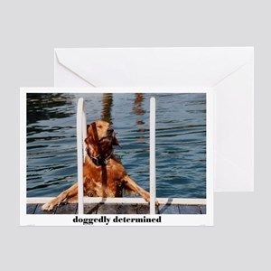 doggedly determined Greeting Card