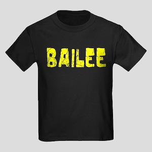 Bailee Faded (Gold) Kids Dark T-Shirt