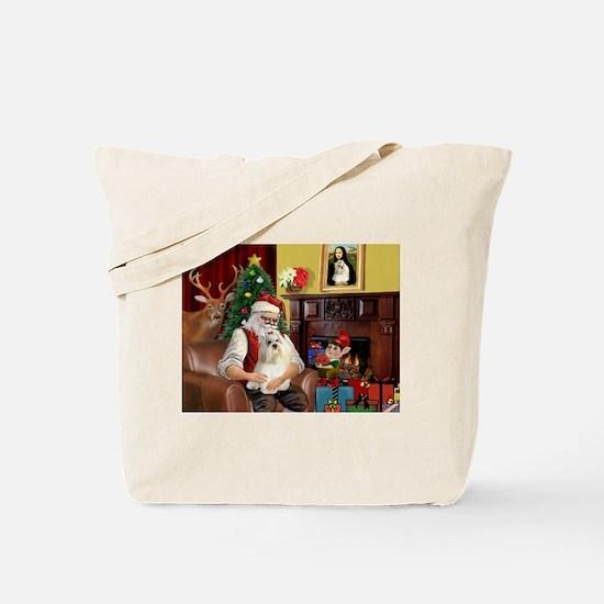 Santa's Havanese Tote Bag
