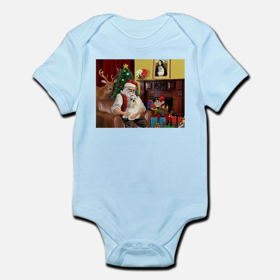Santa's Havanese Infant Bodysuit