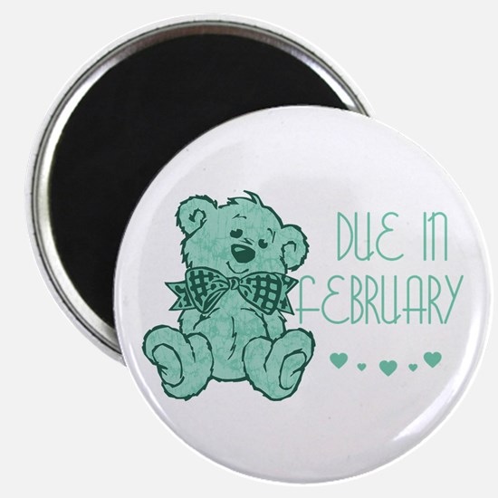 Green Marble Teddy Due February Magnet